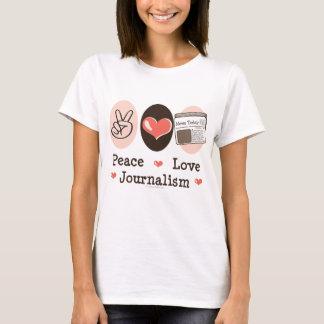 T-shirt de journalisme d'amour de paix