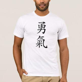 T-shirt de kanji de courage de Bushido de Japonais