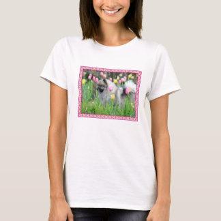 T-shirt de Keeshond de tulipes de ressort