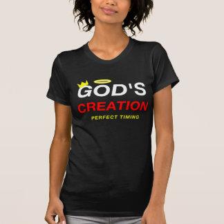 T-shirt de la création de Dieu des femmes