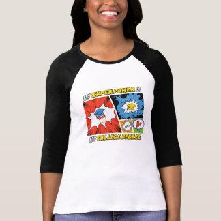 T-shirt de la douille des femmes de super pouvoir