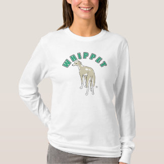 T-shirt de la douille des femmes de whippet long