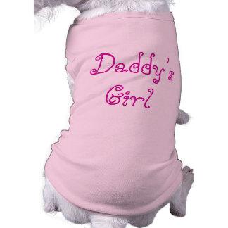 T-shirt de la fille du papa pour le chien du papa t-shirt pour chien