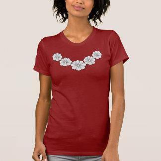 T-shirt de la fleur des femmes hawaïennes
