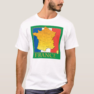 T-shirt de la France des hommes
