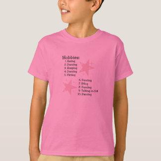 T-shirt de la jeunesse de passe-temps de danseur
