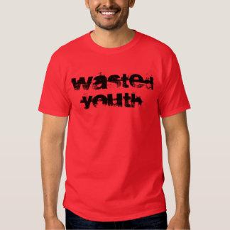 """T-shirt """"de la jeunesse gaspillée"""""""