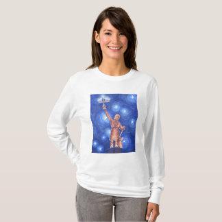 T-shirt de la Long-Douille des femmes de Chanukah