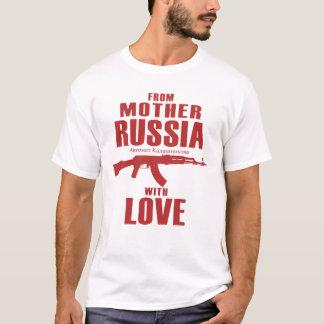 T-shirt De la mère Russie avec la chemise de l'amour AK