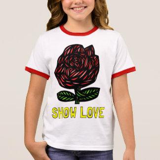 """T-shirt de la sonnerie de la fille """"montrez amour"""""""