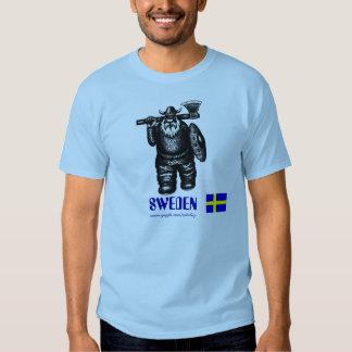 T-shirt de la Suède avec le dessin drôle de Viking