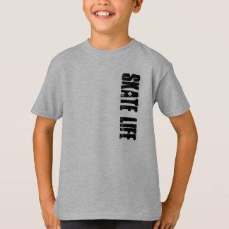 T-shirt de la vie de patin d'enfants