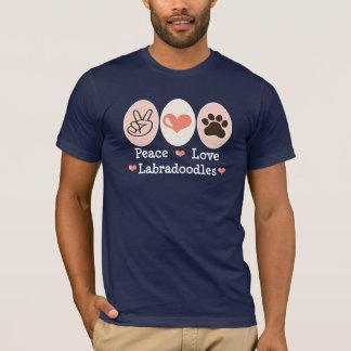 T-shirt de Labradoodles d'amour de paix