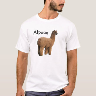 T-shirt de lama d'alpaga pas