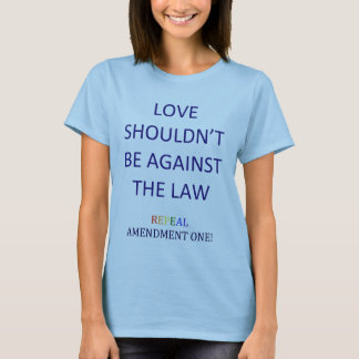 T-shirt de l'amendement un d'abrogation