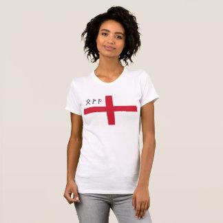 T-shirt de l'Angleterre des femmes - drapeau avec