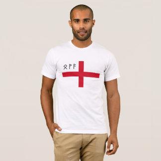 T-shirt de l'Angleterre - drapeau avec les runes
