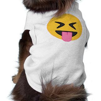 T-shirt De langue chemise de chien d'Emoji