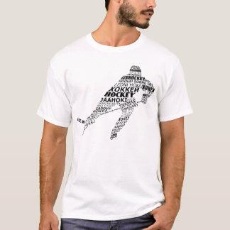 T-shirt de langues d'hockey de typographie