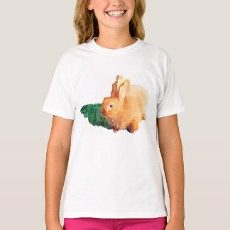 """T-shirt de """"LAPIN de PÂQUES"""" de la fille (blanc)"""