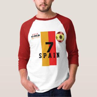 T-shirt de l'Espagne de villa de la chaussure #7