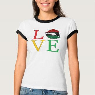T-shirt de lèvres d'Afrocentric d'AMOUR