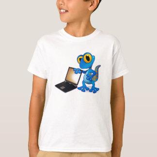 T-shirt de lézard d'ordinateur portable