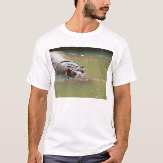 T-shirt de l'hippopotame des hommes