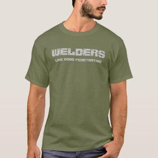T-shirt de l'humour 2 de soudeuse