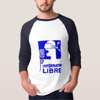 T-shirt de libre de l'information