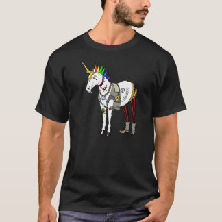 T-shirt de licorne de punk rock