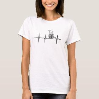 T-shirt de ligne de sauvetage de cor de harmonie -