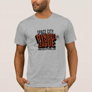 T-shirt de ligue de flipper de ville de l'espace