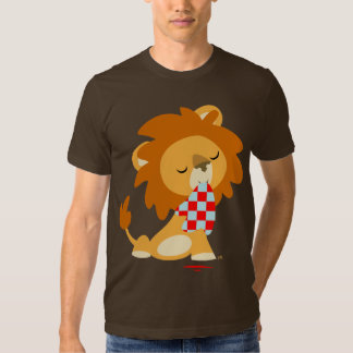 T-shirt de lion assouvi par bande dessinée