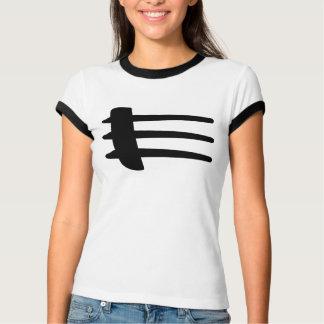 T-shirt de liston de côté de courant perturbateur