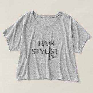T-shirt de logo de coiffeur