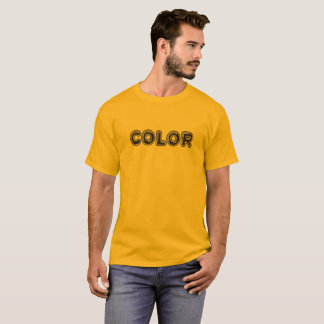 T-shirt de logo de couleur