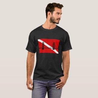 T-shirt de logo de groupe de scaphandre de San