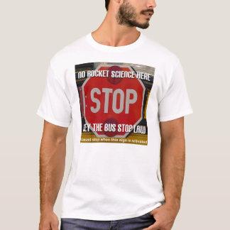 T-shirt de loi d'arrêt d'autobus scolaire