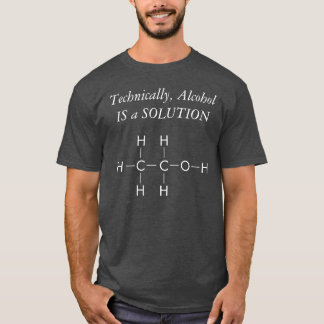 T-shirt de LOL : Solution d'alcool (grise)