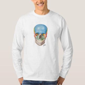 T-shirt de long-douille de crâne de Netter