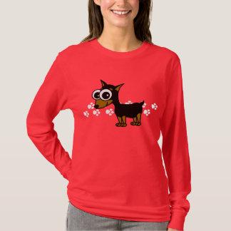 T-shirt de Longsleeve de Pinscher miniature -