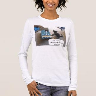 T-shirt de Longsleeve de surprise de Noël de