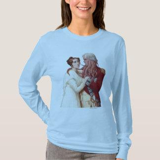 T-shirt de Longsleeve des femmes de portrait de