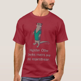T-shirt de loutre de hippie