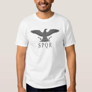 T-shirt de lumière de charbon de SPQR Eagle
