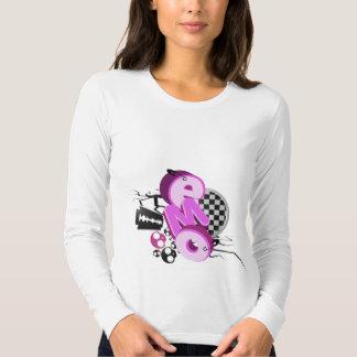T-shirt de lumière de typographie d'Emo