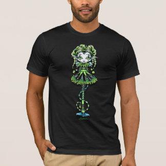 T-shirt de lutin de farceur de vert de harlequin