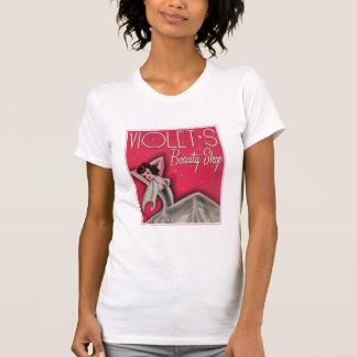 T-shirt de magasin de beauté de la violette