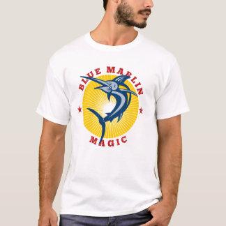 T-shirt de magie de Marlin bleu des hommes